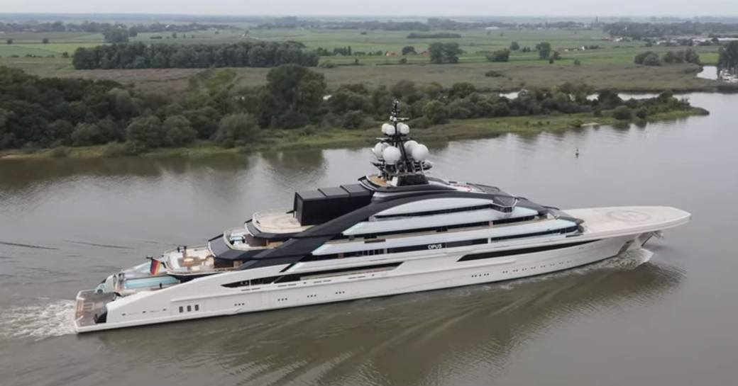 Aerial photo of superyacht Nord