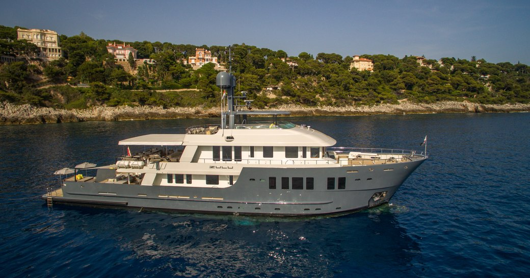 luxury yacht ZULU cruising on a luxury yachting vacation