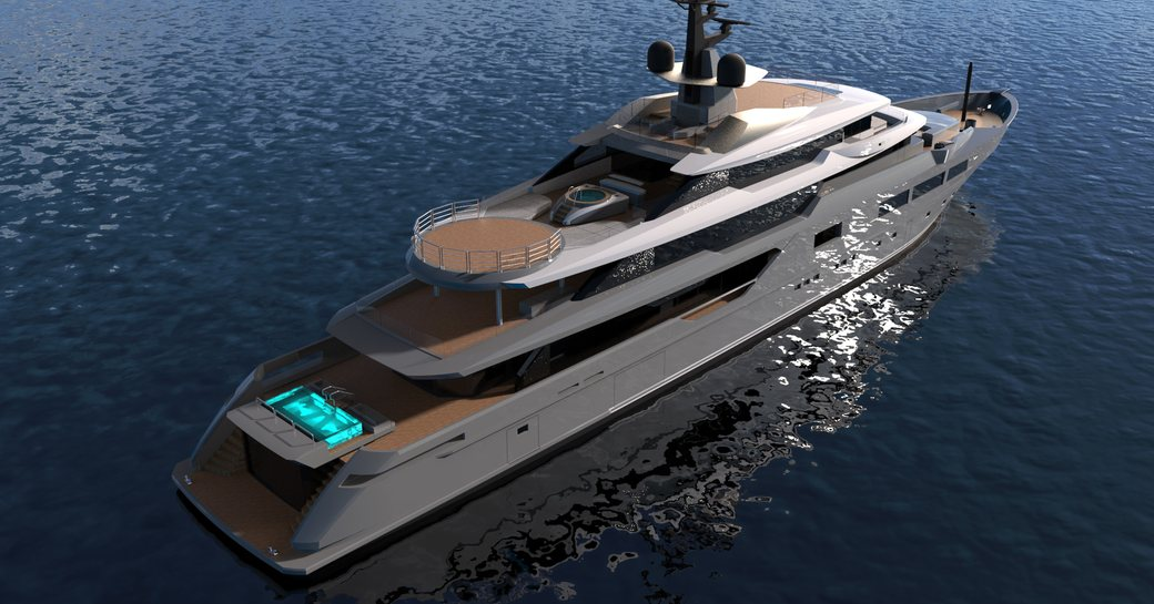 superyacht Solo anchors