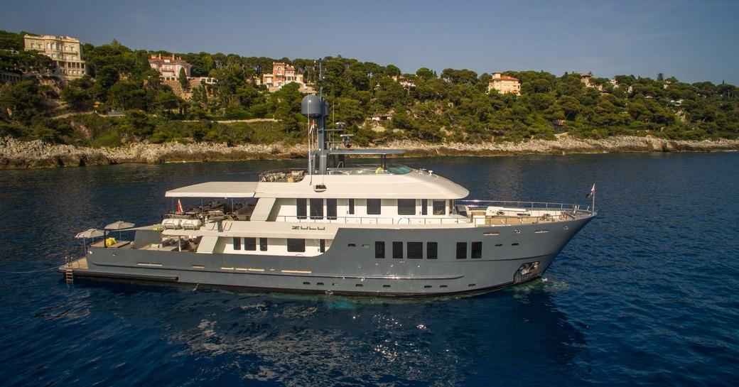 expedition yacht Zulu on a Caribbean yacht charter