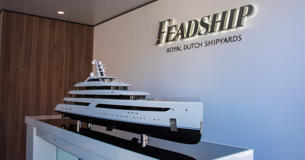 Feadship stand at the MYS 2021
