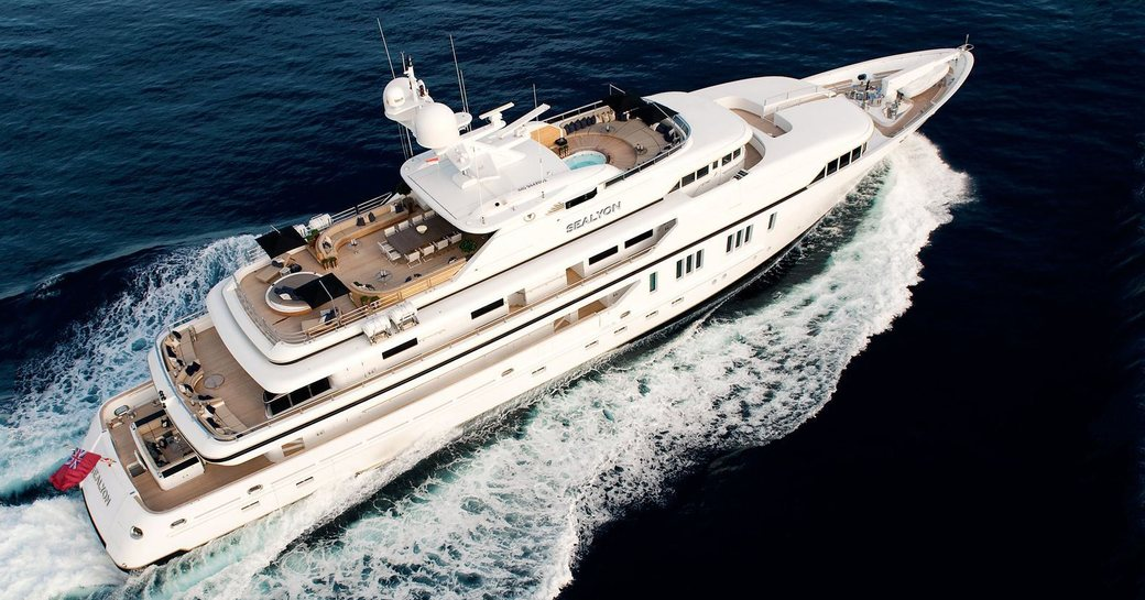 superyacht SEALYON cruising in the Caribbean on a luxury yacht charter