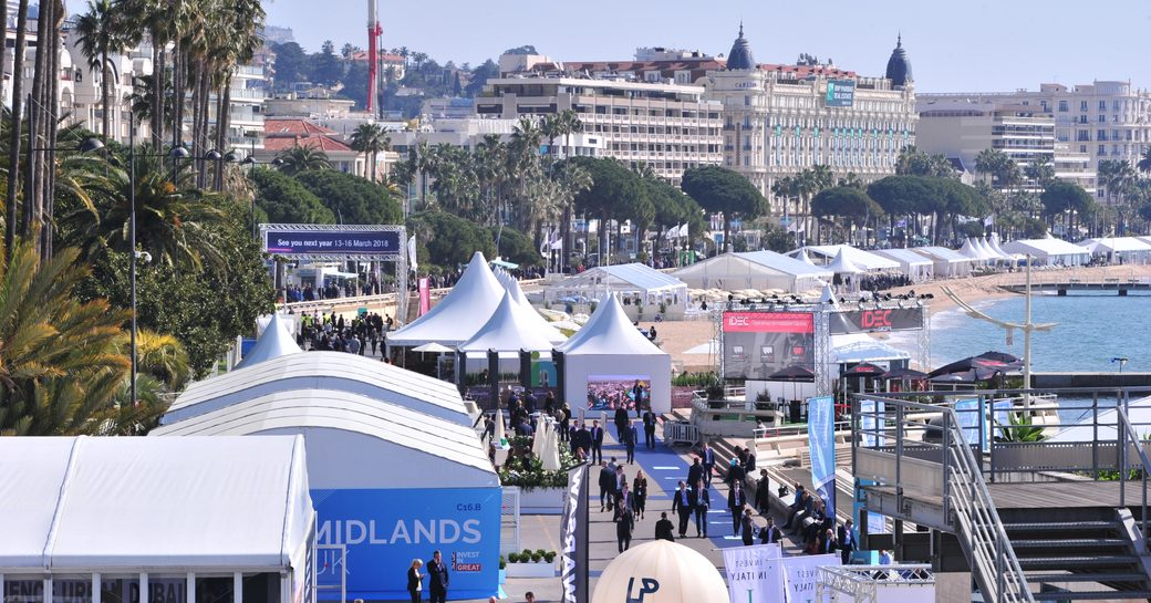 Cannes along the French Riviera during the annual MIPIM conference