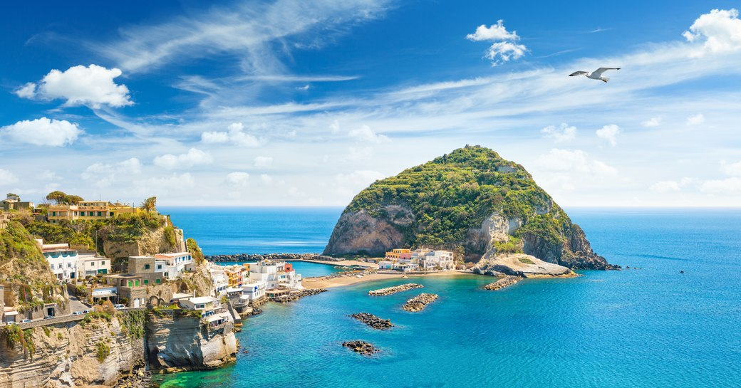 a lovely peninsula in the east coast of italy where many motor yachts on a italy yacht charter visit