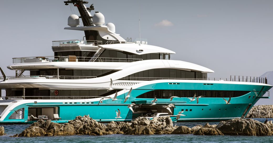 superyacht GO soon after her launch from Turquoise shipyard