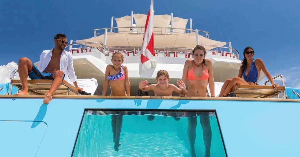 family friendly pool superyacht axioma