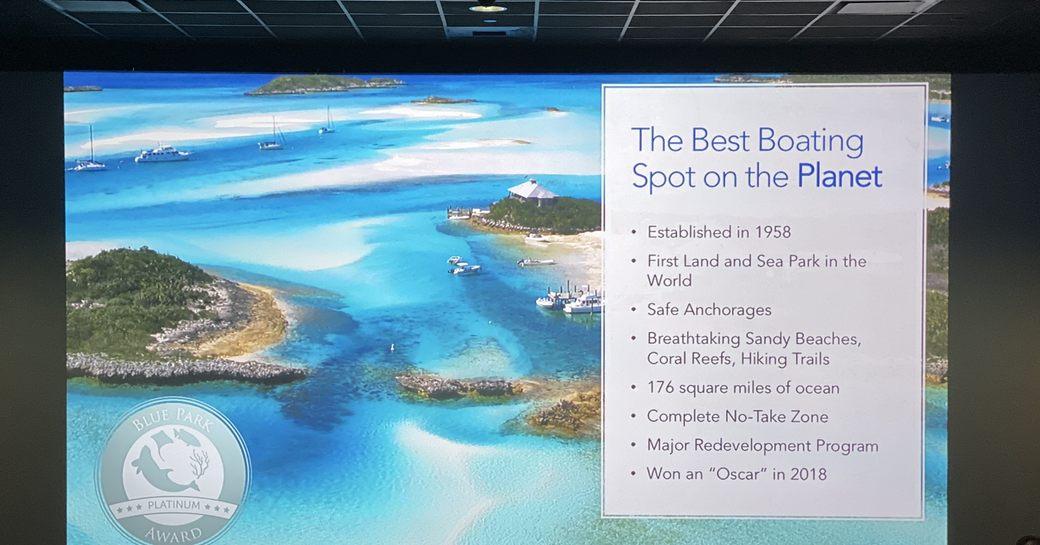 presentation on the bahamas as a yacht charter destination