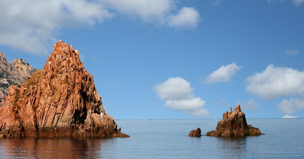 spectacular rock formations of Scandola National Park in Corsica