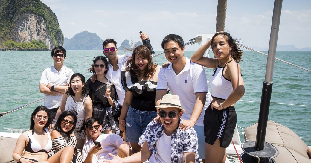 attendees at the Thailand Yacht Show & Rendezvous enjoy a yacht trip