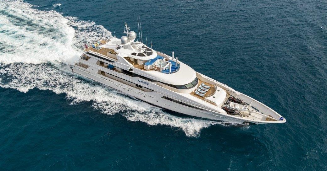 superyacht TRENDING cruises for charter in the Mediterranean