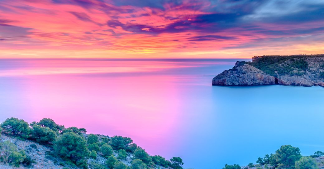 Beautiful Dawn at the Mediterranean Sea