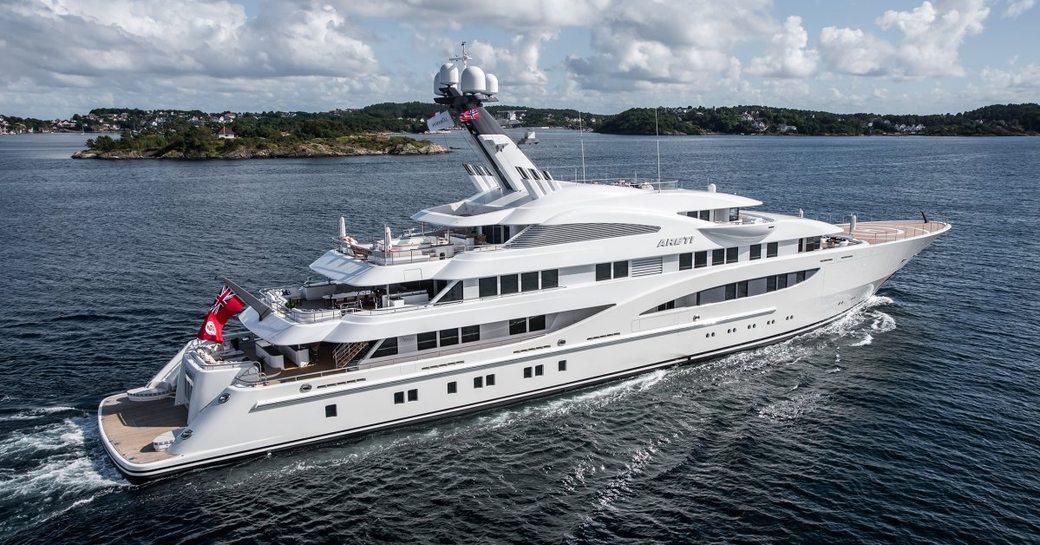 superyacht ARETI to debut at 2017 Monaco Yacht Show