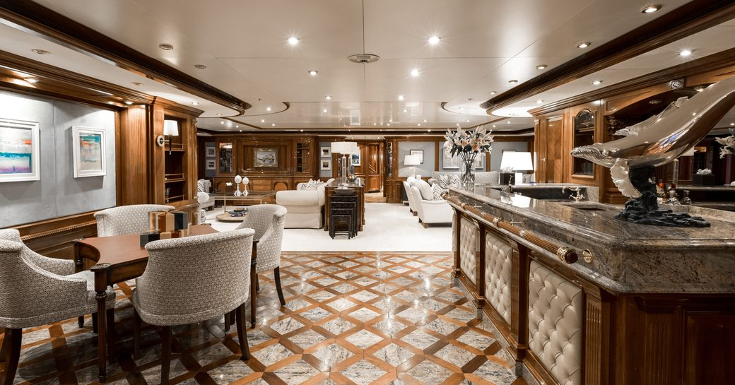 Interior view onboard MY Titania
