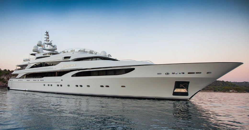 superyacht 'Lioness V' cruises the East Mediterranean on luxury yacht charters this summer