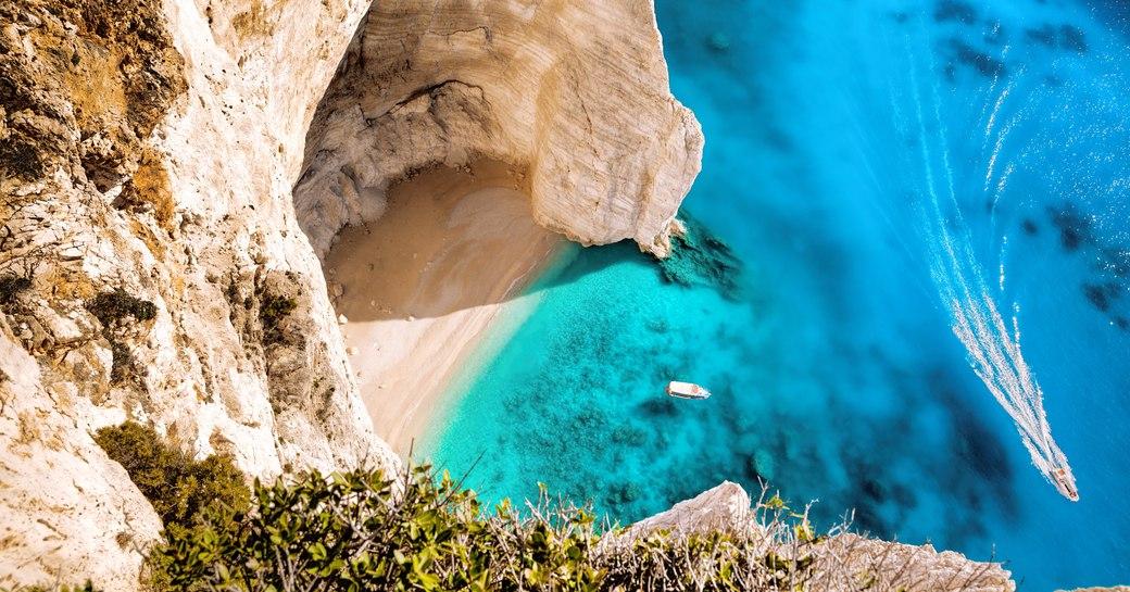 Greek cove and sea view