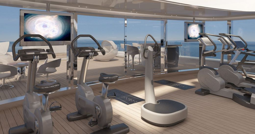Gymnasium onboard MY Nautilus