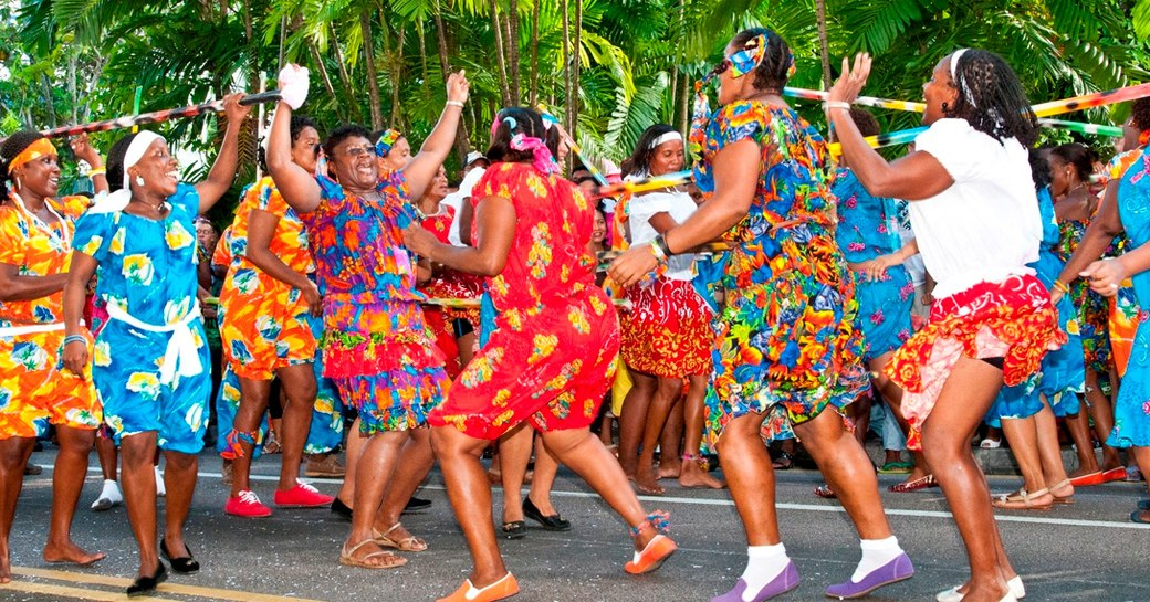 Seychelles dancing people