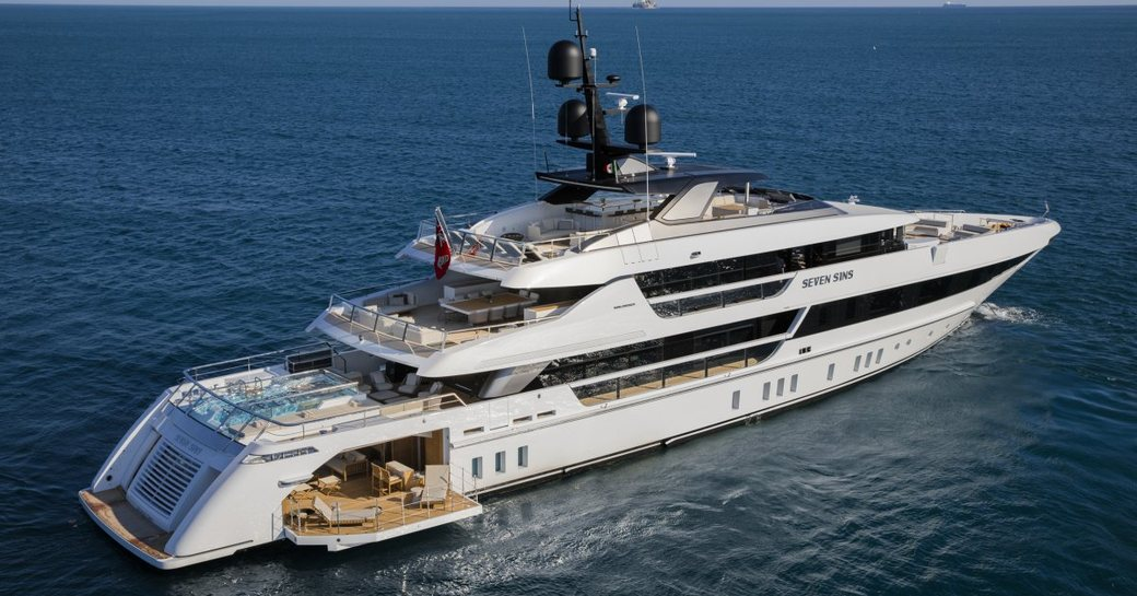 luxury yacht Seven Sins to appear at the 2017 Monaco Yacht Show