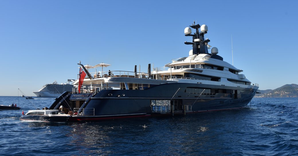 Tranquility yacht at anchor in cannes