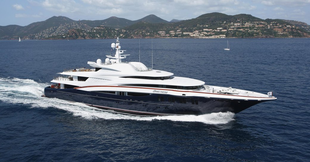 luxury yacht ANASTASIA will attend the Monaco Yacht Show 2017