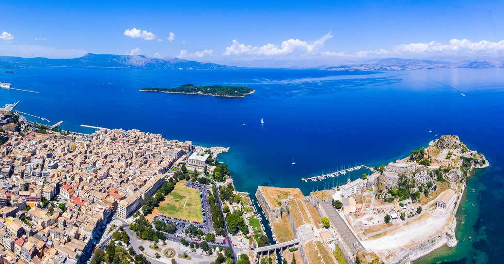 View of Corfu's Old Town in Greece