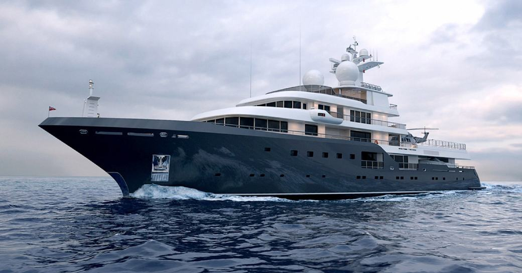 expedition yacht Planet Nine underway on a luxury yacht charter