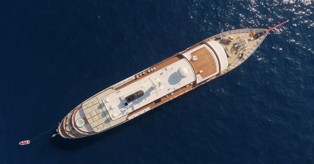 Superyacht CHAKRA viewed from above