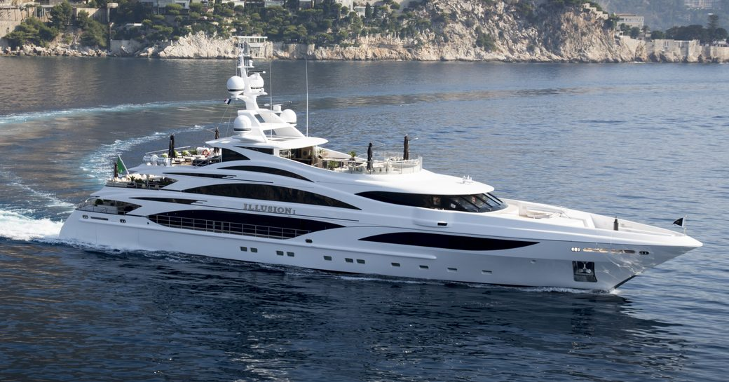 motor yacht ILLUSION V is attending the Antigua Charter Yacht Show 2017