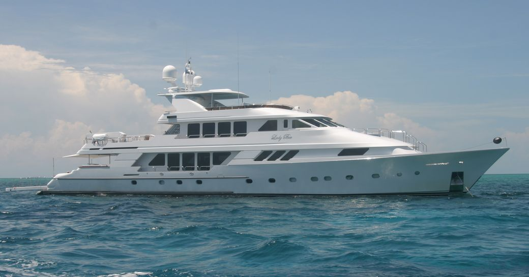 luxury yacht 'Lady Bee' cruising for charter in the Bahamas