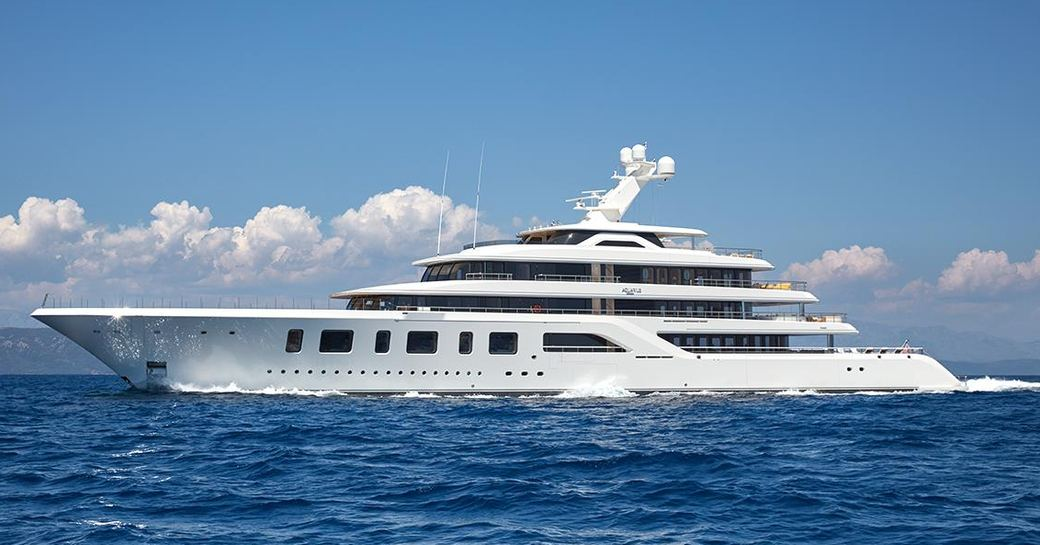 charter yacht AQUARIUS will appear at the Monaco Yacht Show 2017