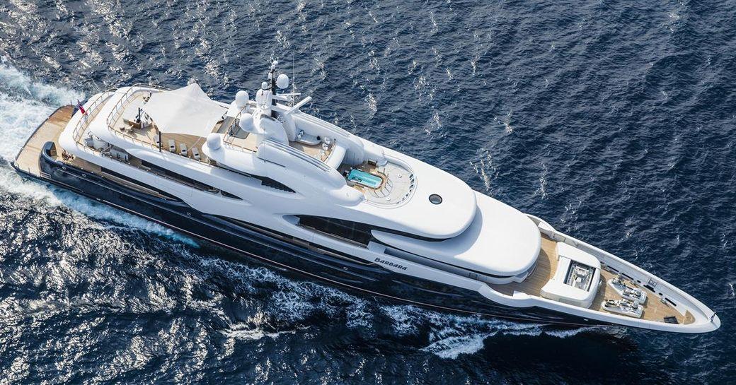 charter yacht Barbara underway on a Mediterranean yachting vacation