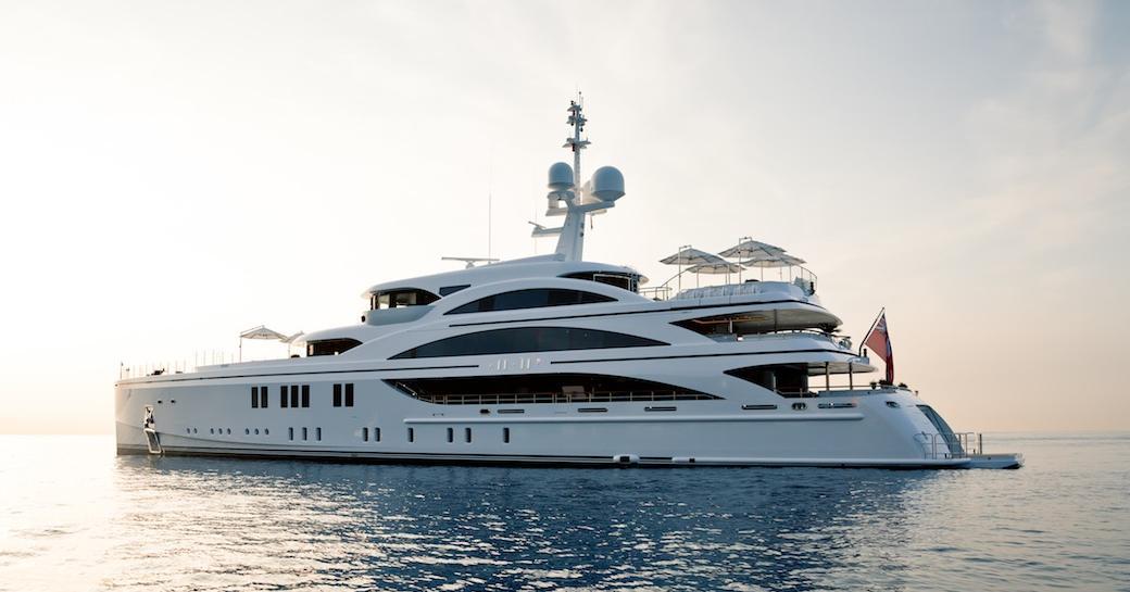 superyacht 11/11 anchors on a Mediterranean yacht charter