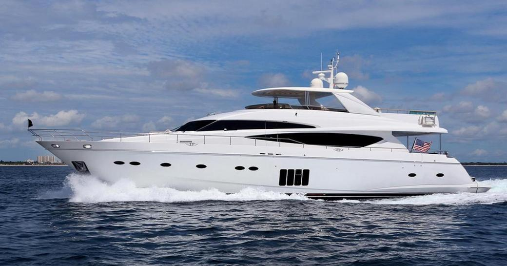 motor yacht CRISTOBAL cruising on a charter vacation in Florida