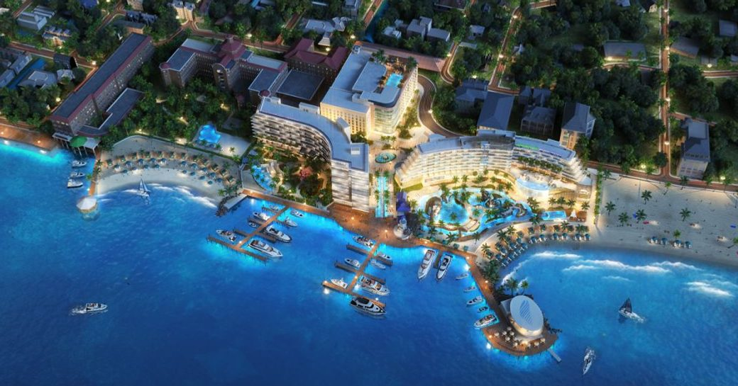 aerial view of one particular harbour at new complex the pointe