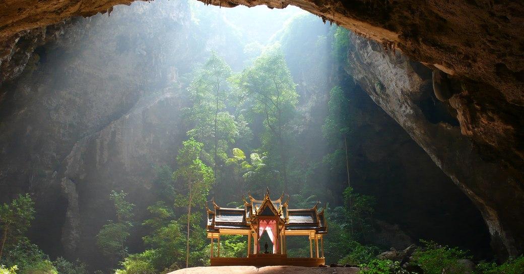 Light falling into Phraya Nakhon Cave, Thailand