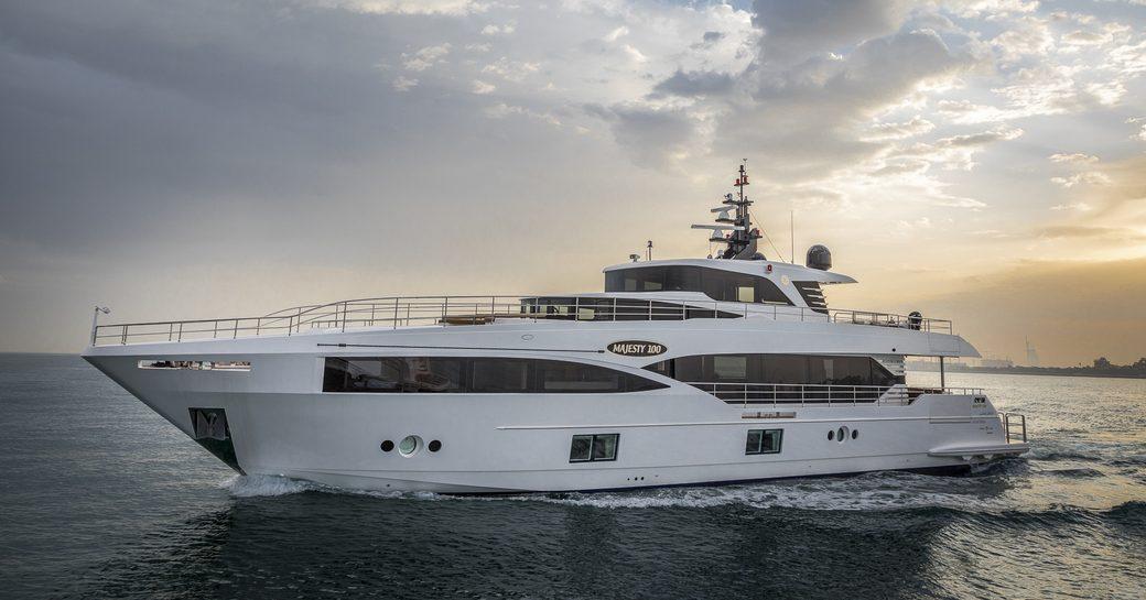 superyacht ONEWORLD cruising on a luxury yacht charter in Australia