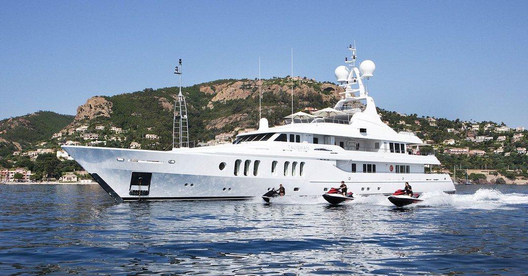 luxury yacht Talisman Maiton cruising on charter in the Mediterranean