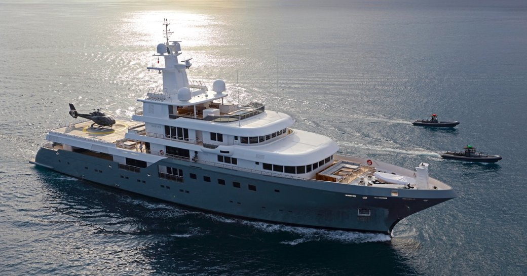 expedition yacht Planet Nine cruising on a private yacht charter