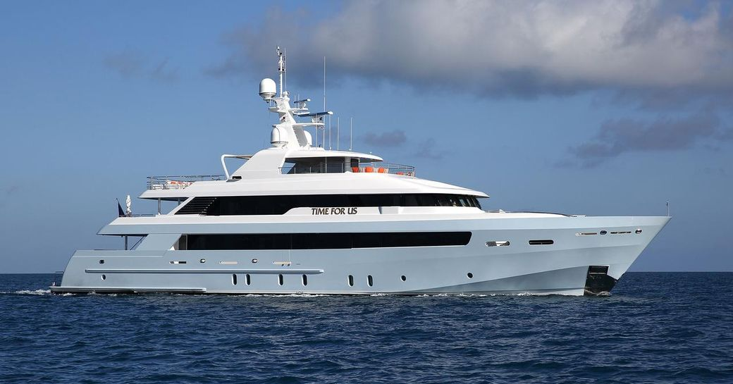superyacht Time For Us cruising on a Bahamas yacht charter