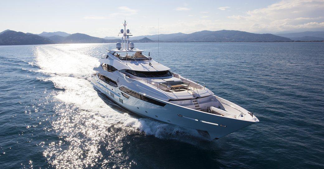 superyacht ARADOS underway in the Mediterranean