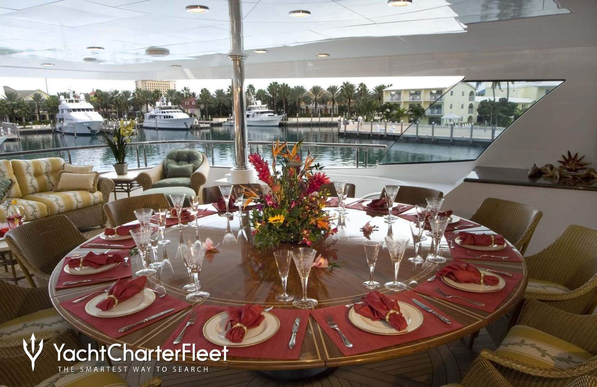 Amarula sun yacht charter price ex mine games trinity for 5 star restaurant exterior
