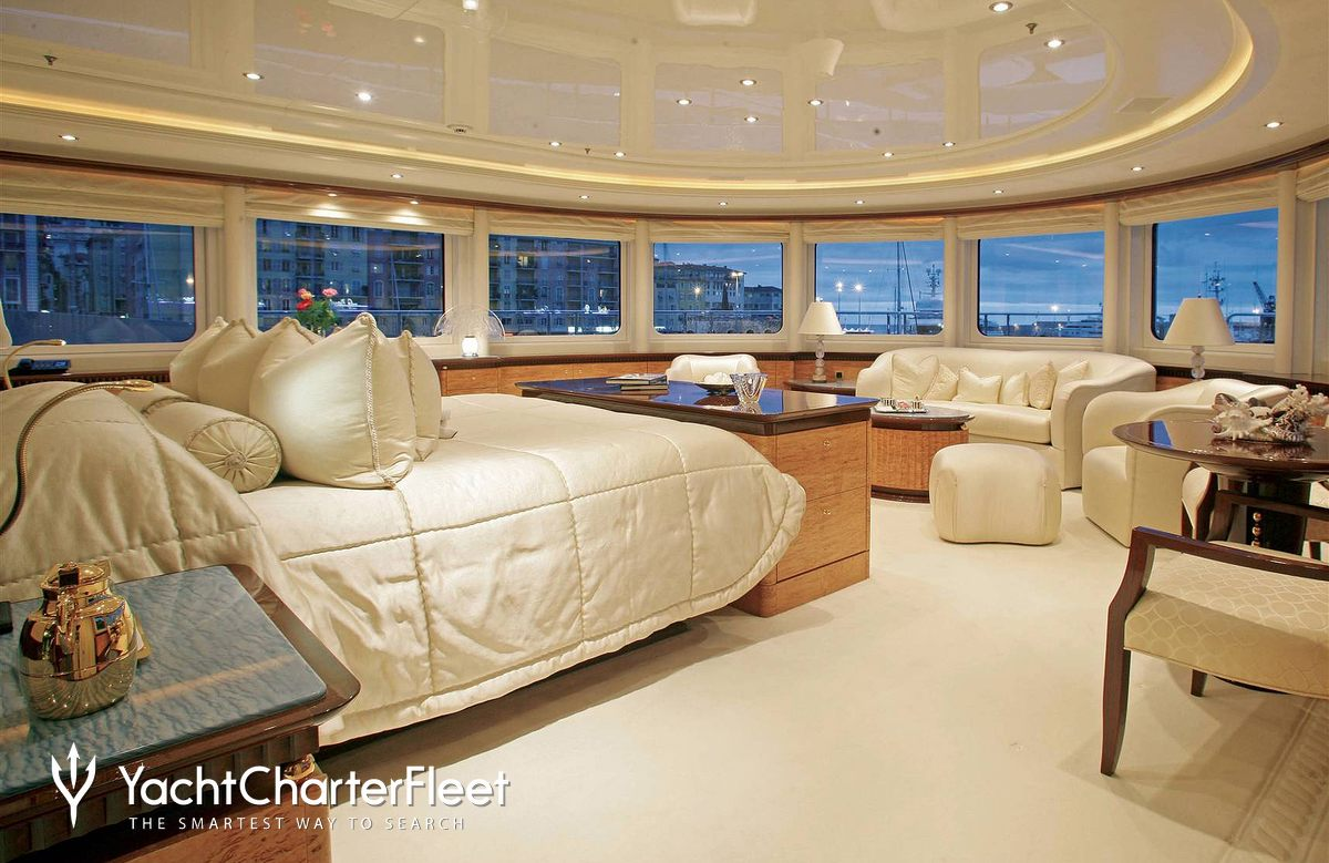 Nirvana yacht charter price oceanco luxury yacht charter -  Lucky Lady Yacht Master Stateroom Panoramic View