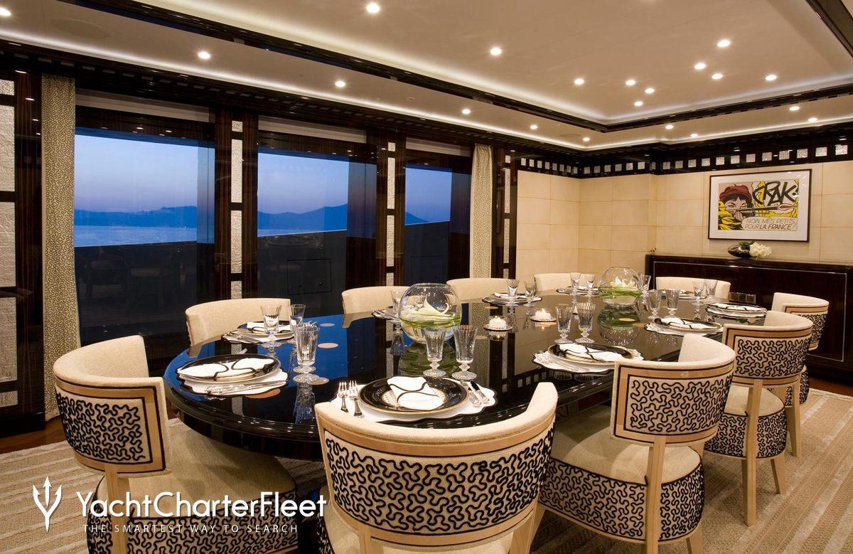 ... Alfa Nero Yacht Interior Dining ...