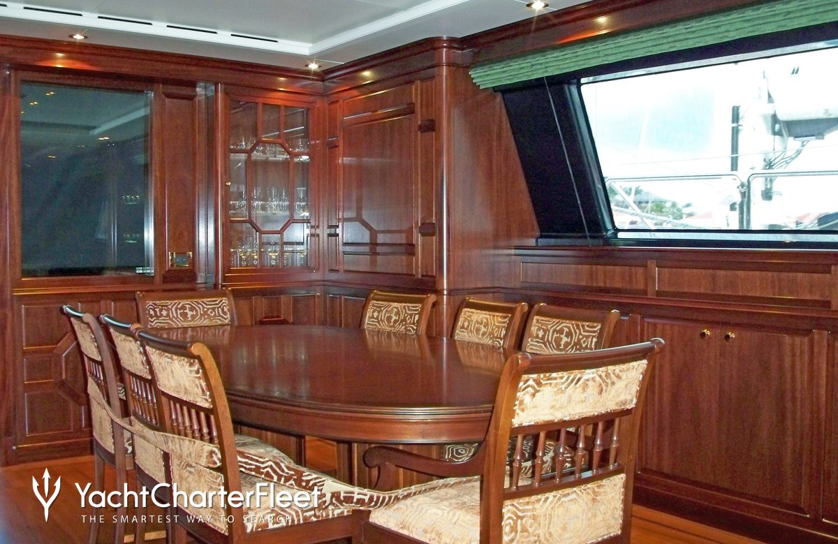 Helios yacht charter price perini navi luxury yacht charter for Q station dining room