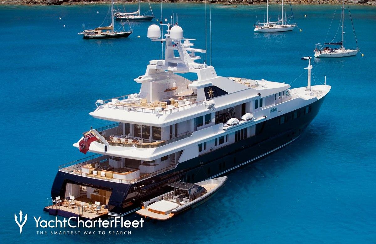 Nirvana yacht charter price oceanco luxury yacht charter - Helios Yacht Aerial Sundeck Helios Yacht Rear View
