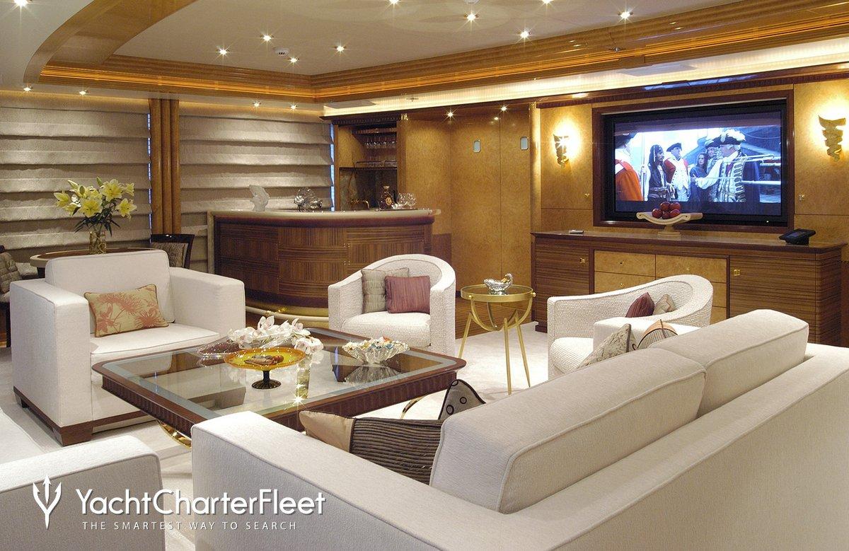 Nirvana yacht charter price oceanco luxury yacht charter -  Sea Walk Yacht Main Saloon Screen