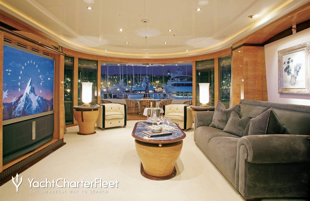 Nirvana yacht charter price oceanco luxury yacht charter -  Lucky Lady Yacht Master Stateroom Private Salon Aft