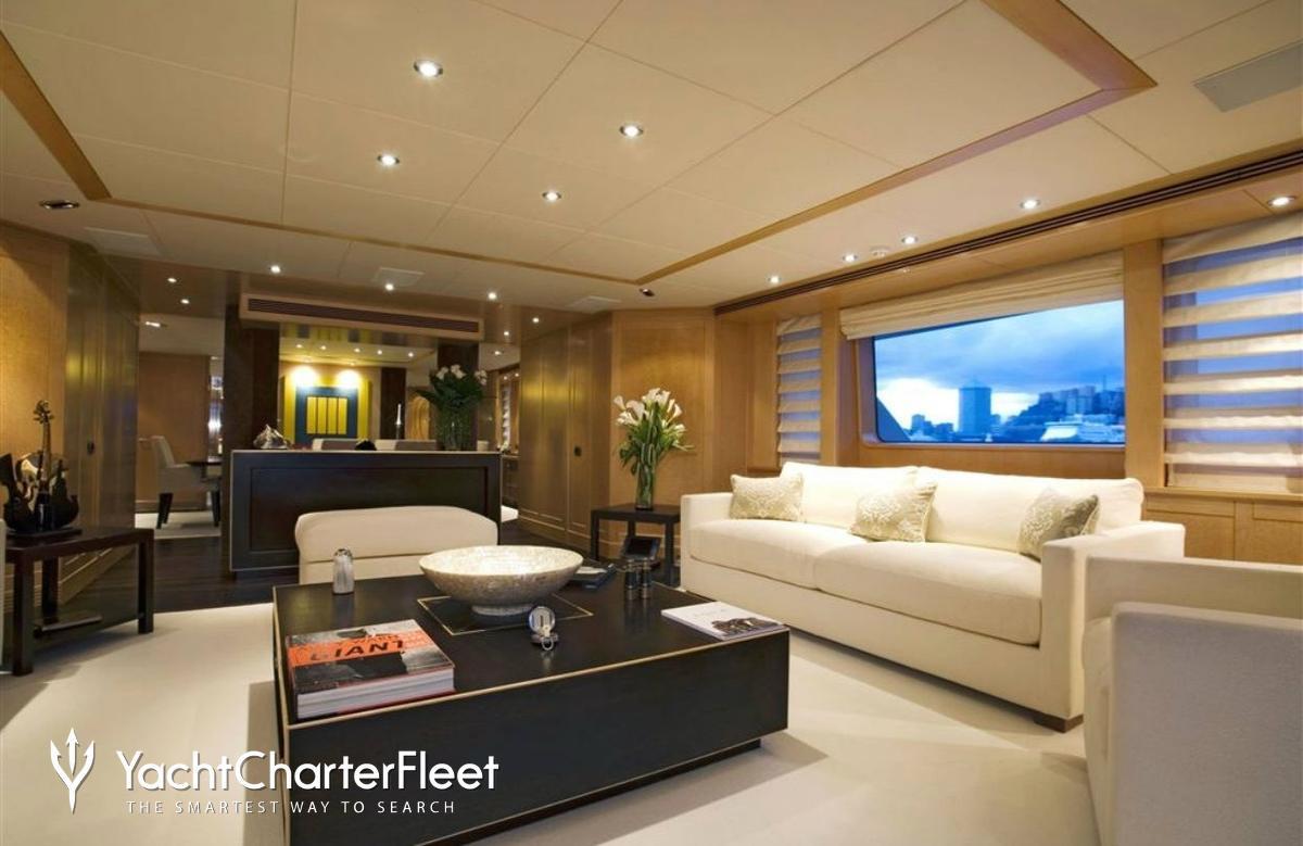 Nirvana yacht charter price oceanco luxury yacht charter -  Deep Blue Ii Yacht Main Salon