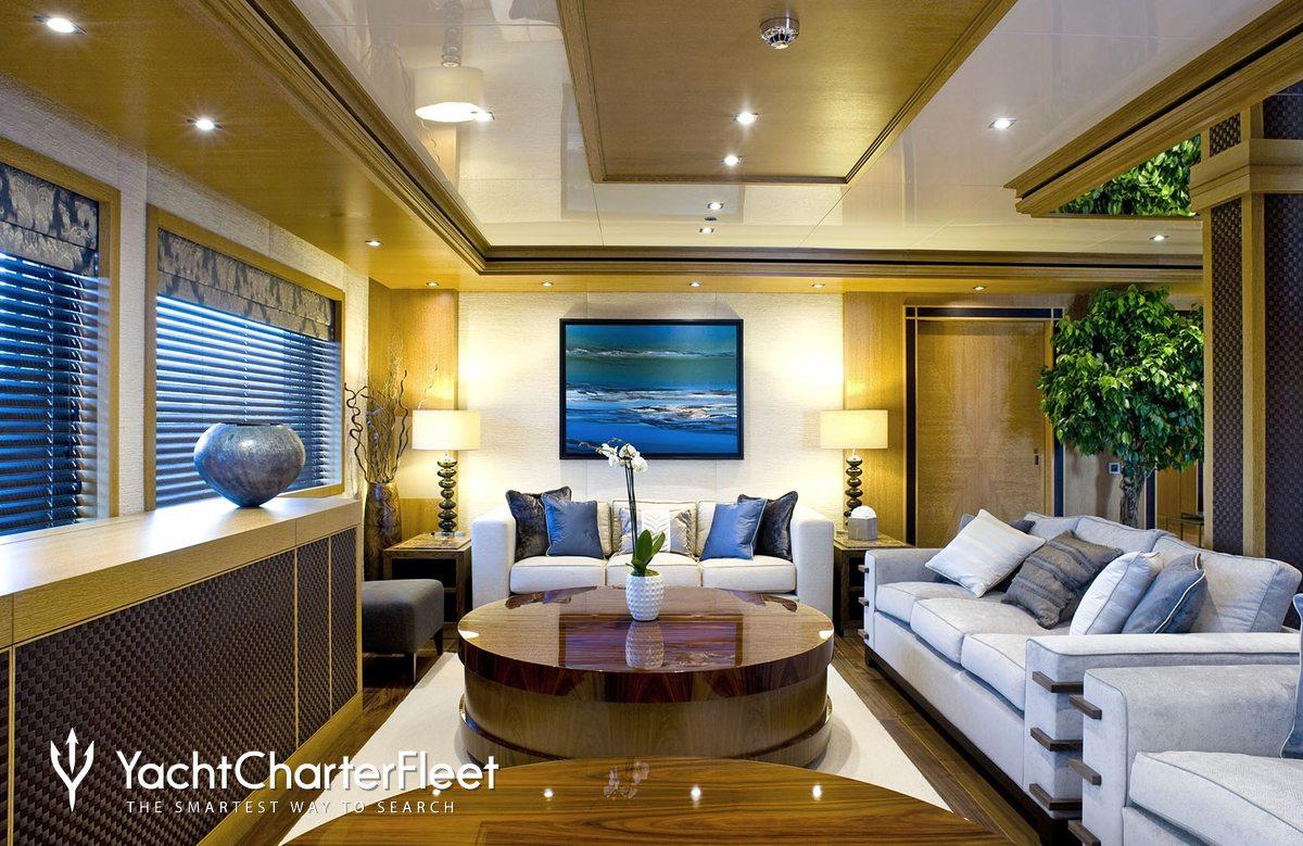 Nirvana yacht charter price oceanco luxury yacht charter -  Indian Empress Yacht Main Saloon