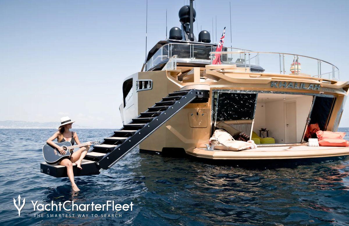 Khalilah Yacht Charter Price Palmer Johnson Luxury Yacht Charter
